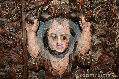 Medieval Antique Carved Wood Man Image - (C) Celia Ascenso 2016