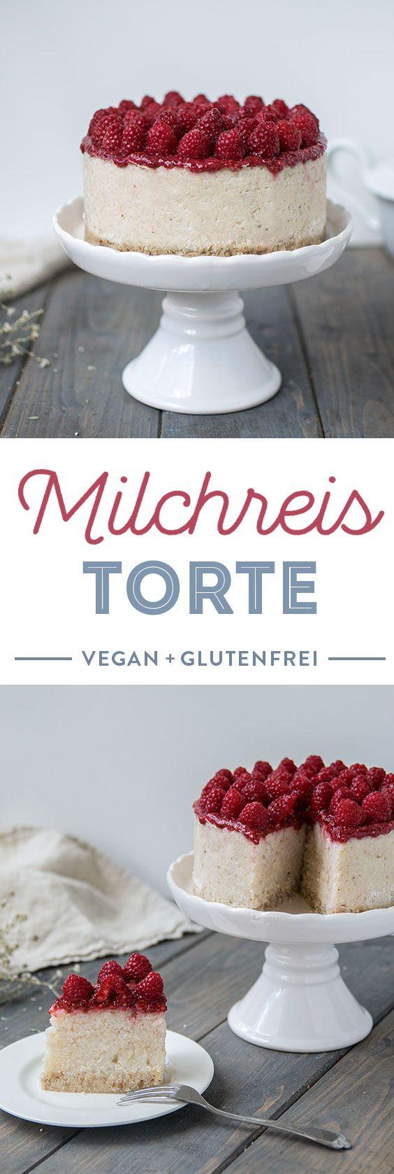 Rezept für vegan und glutenfreie Milchreis Torte mit Kokos