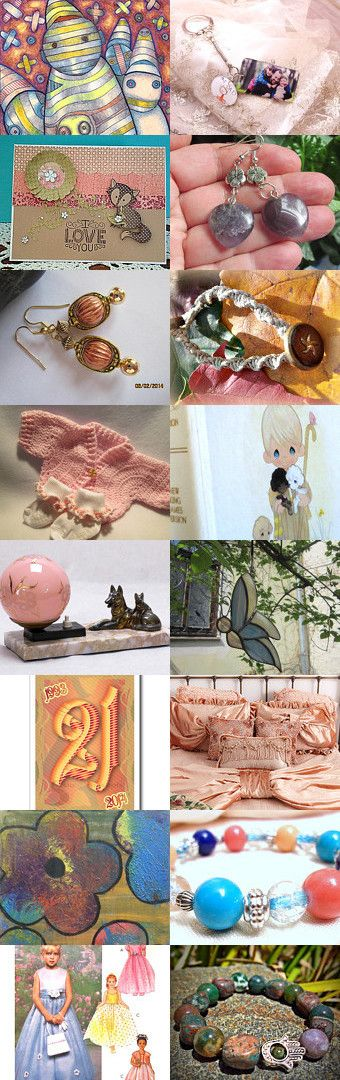 Peaches and Cream by Marcia, Tanna, Lisa, Leslie on Etsy--Pinned with TreasuryPin.com