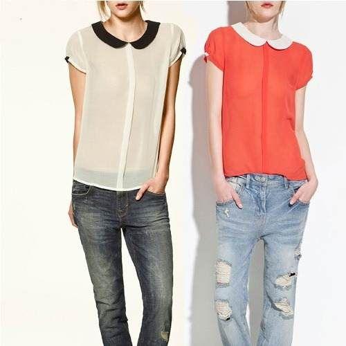 Blusas De Chifon Comodas Y Bellas Lvbp13 - BsF 480,00 en MercadoLibre
