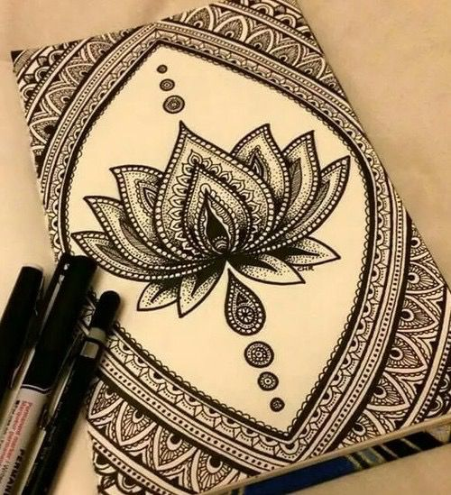 Art Tattoo Beautiful Flor De Loto Madhubani