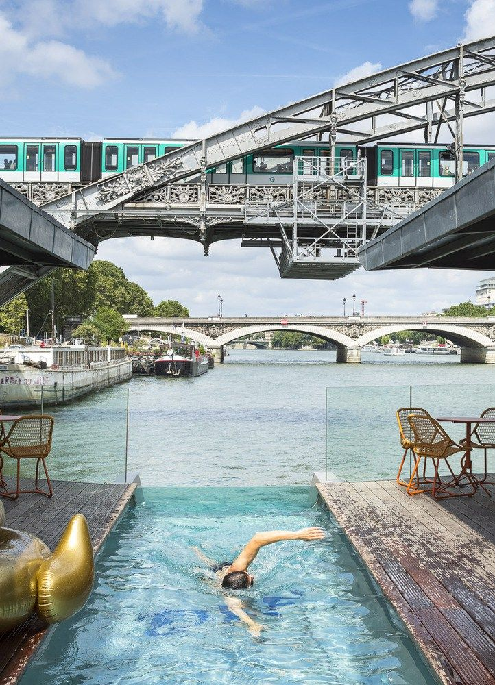 Floating Hotel on the river Seine in Paris