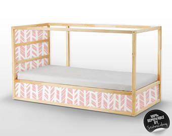Lisca di Kura letto, Ikea, Set di adesivi, PACK di 5, auto adesivo, bambini, mobili decalcomania, Abstract, buccia e bastone, Decor #14K
