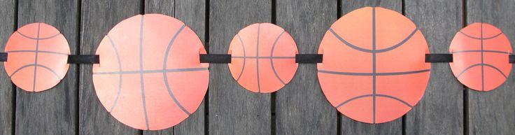Basketball Ball Party Circles