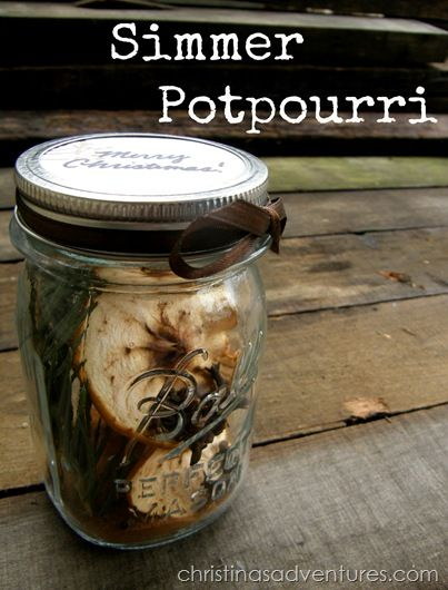 Simmer Potpourri There are SO many variations of simmer pot recipes, and I really think you can't go wrong.  So use this recipe for yourself, or put it in a canning jar and give it as a gift to the people you love!