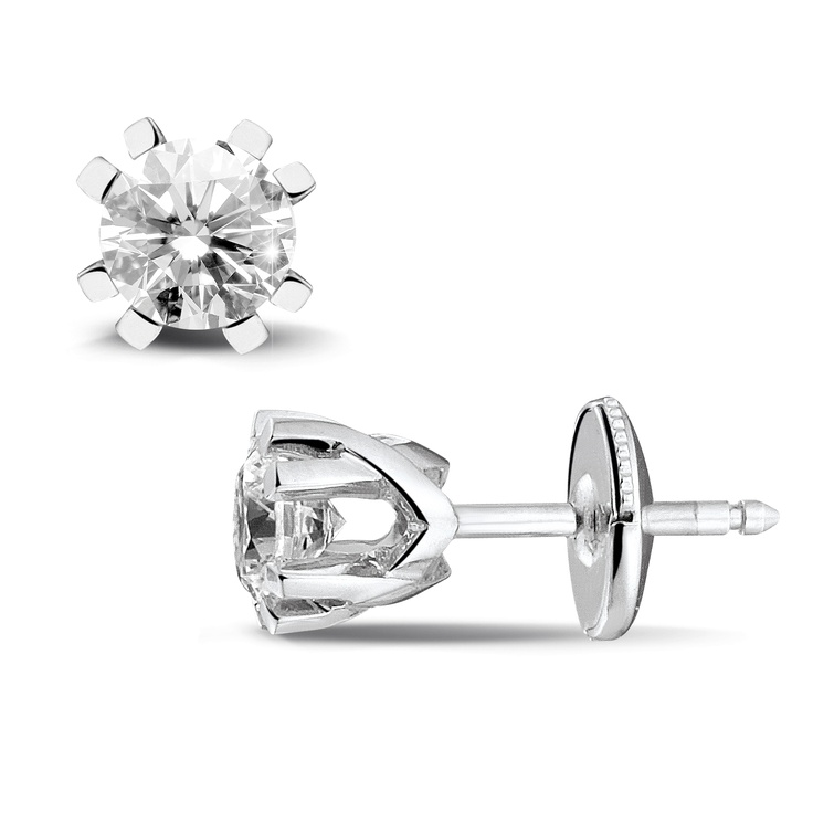 Jafo Collection - 0.60 Diamond Stud Design Earrings - www.baunat.com