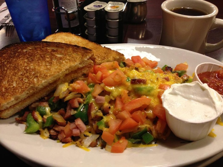 Hurricane Egg Scramble from The Hurricane Cafe. It's a Seattle classic, probably mostly enjoyed best with the 2AM crowd. Coffee is delish.