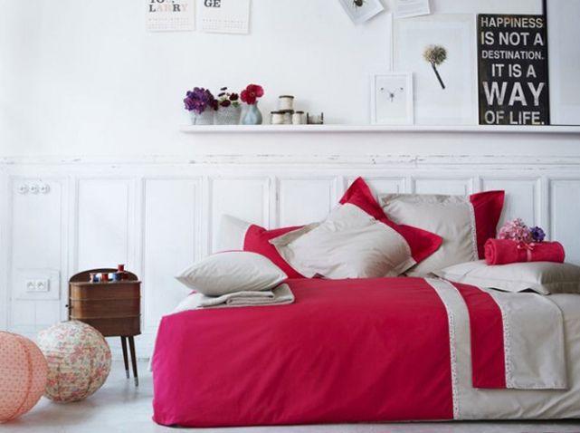 Parure de lit rose essix