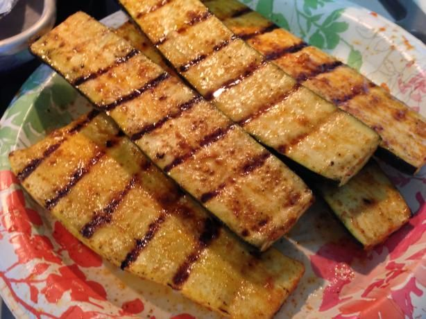 Grilled Yellow Squash and Zucchini...different flavor for these veggies (in a good way!)