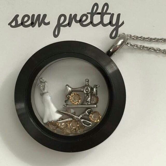 FOR THE WOMAN WHO MAKES YOUR WEDDING DRESS OR FOR THE ONE WHO LOVES TO SEW!  Get this look & see everything else at https://judyrichardson.origamiowl.com Origami Owl Lockets, Charms, Inscriptions, Chains, Watches, Bracelets, Earrings & More