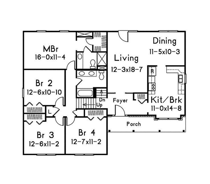 17 Best Images About Split Level Floor Plans On Pinterest