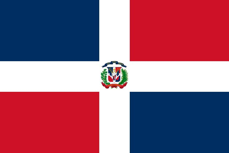 Flag of the Dominican Republic - Bandeiras da América do Norte – Wikipédia, a enciclopédia livre