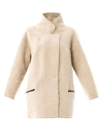 Reversible curly shearling coat | Inès & Maréchal | MATCHESFAS...