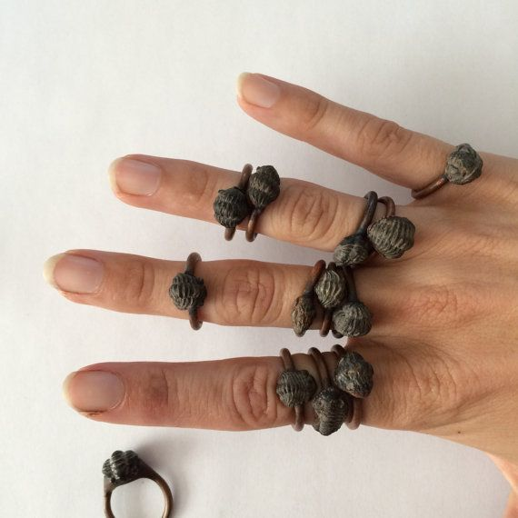Electroformed fossil jewelry. by HAWKHOUSE / $45.00 these are very unique and super cool!