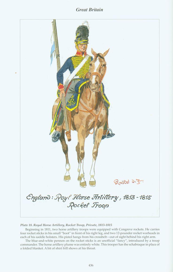 Great Britain: Plate 18. Royal Horse Artillery, Rocket Troop, Private, 1813-1815