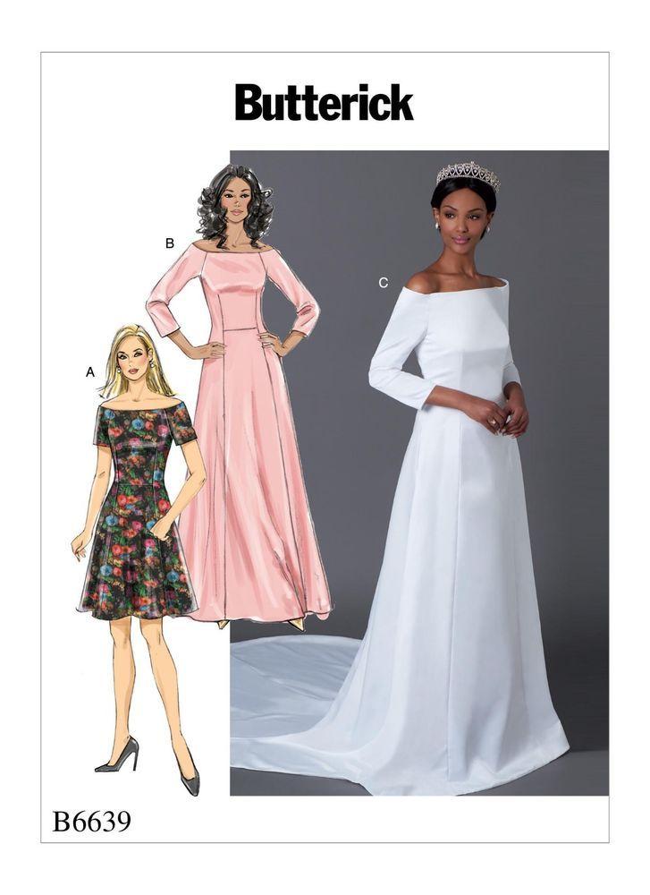 Butterick 6639 Wedding Dress Sewing Pattern Meghan Markle
