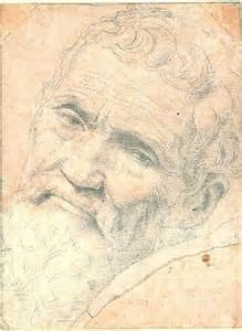 Michaelangelo, self portrait. I would like to have known him.