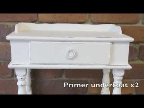 How to Shabby Chic a side table