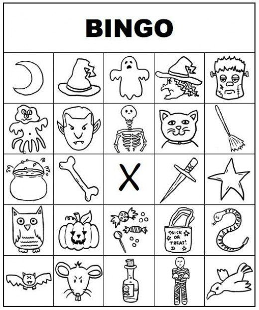 free printable bingo cards for kids and adults - Free Printable Halloween Bingo Game Cards
