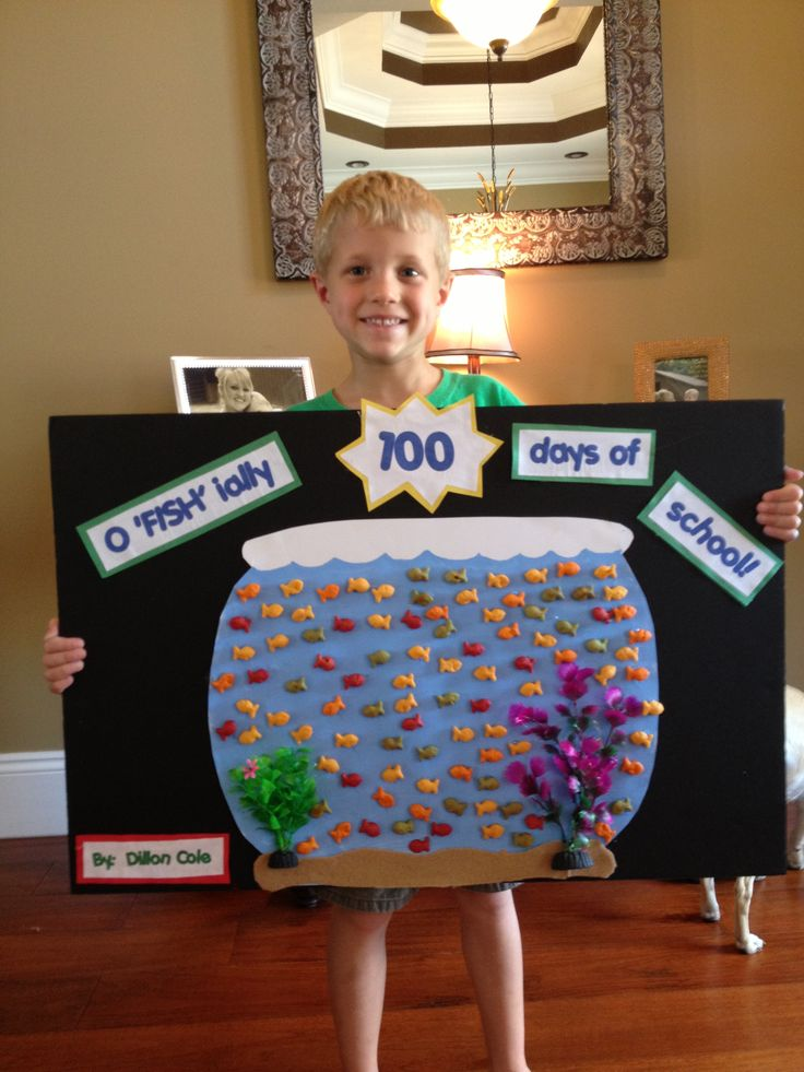 100th day of school goldfish bowl project