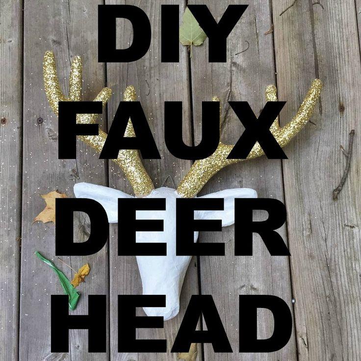 Faux taxidermy inspired DIY