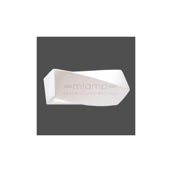 Kinkiet LAMPA ścienna SOL SL.229 minimalistyczna OPRAWA ceramiczna IP20 biała