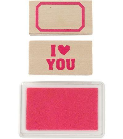 HEMA stationery - stempels met roze inktkussen.