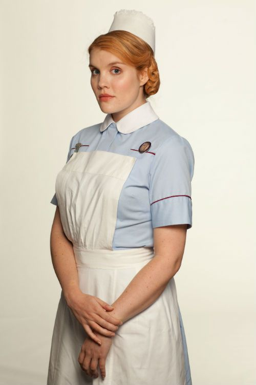 Call the Midwife S3 Cast: PATSY MOUNT (Emerald Fennell) Photo: Laurence Cendrowicz, Neal Street Productions 2013
