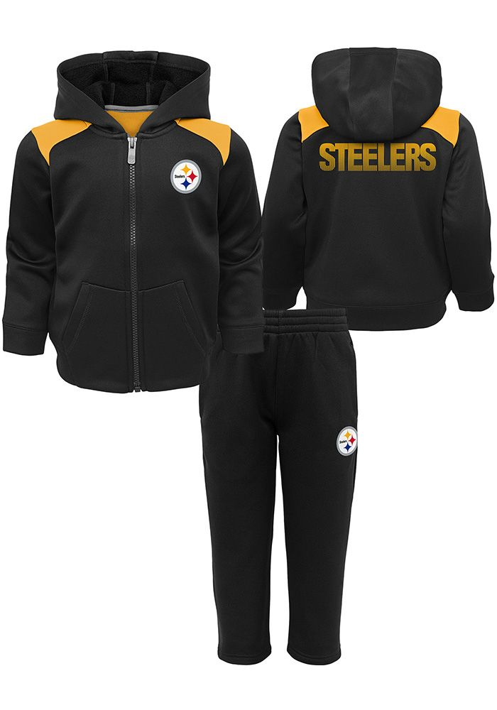 Pittsburgh Steelers Toddler Black Play Action Set Top and Bottom - Image 1 40be83661