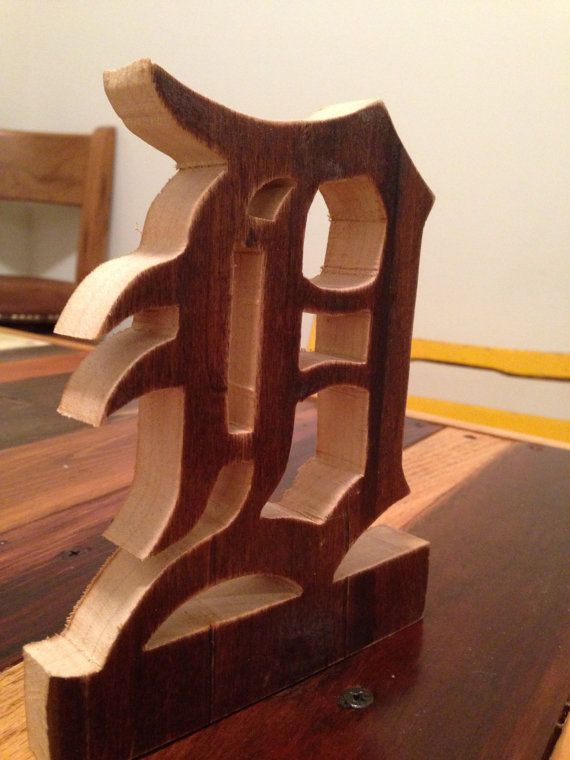 Reclaimed wood Detroit Tiger's D by WoodwardThrowbacks on Etsy - 17 Best Images About Detroit On Pinterest