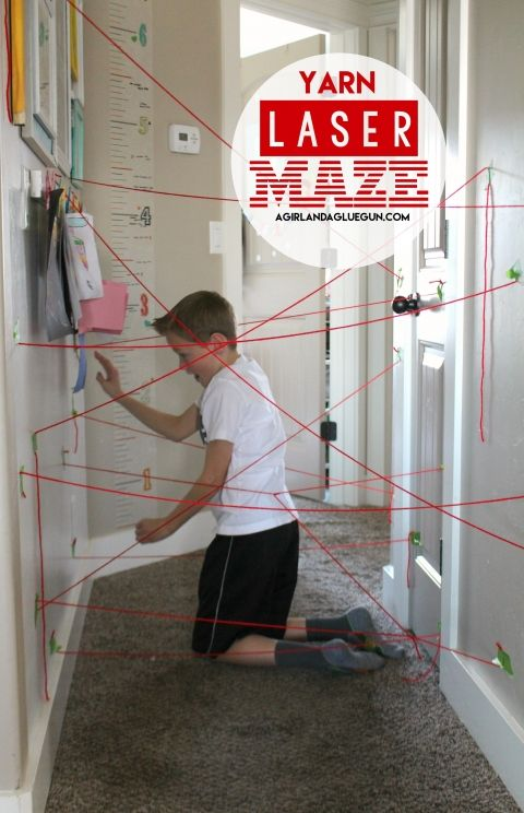 Between snow days and teacher prep days I feel like my kids are hardly in school this year! So we are coming up with fun ways to keep them entertained! This fun yarn laser maze was a crowd pleaser! Ages 8-13 played and loved it. (and we had to time each of them to see …