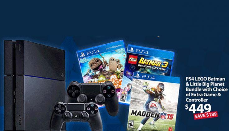 $449 Sony PS4 Bundle Deal is Hot Walmart Cyber Monday 2014 Deal
