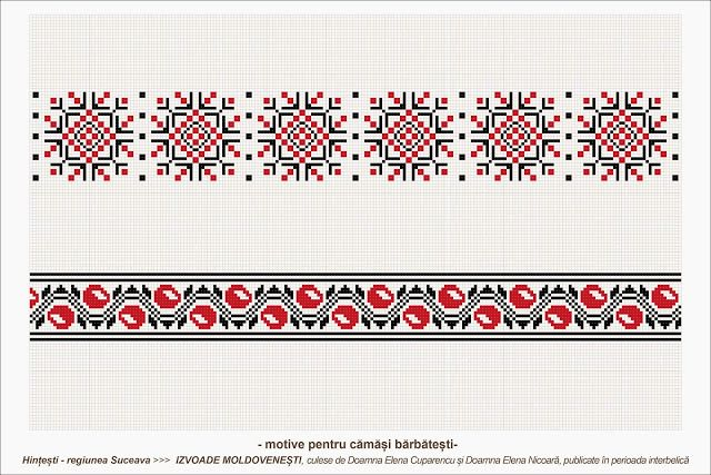 Semne Cusute: romanian traditional motifs - MOLDOVA - Suceava, s...