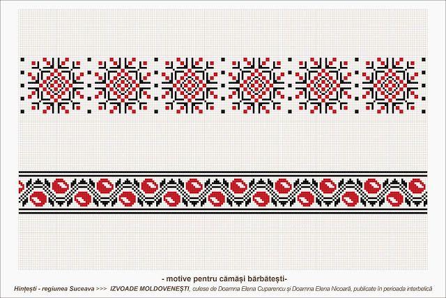 Semne Cusute: romanian traditional motifs - MOLDOVA - Suceava, sat: Hintesti