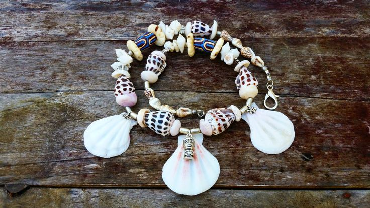 Tribal shell necklace by AngelsUnisexJewelry on Etsy
