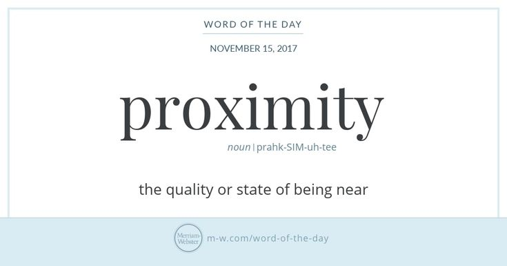 The history of proximity hinges on the idea of closeness, both physical and metaphorical. English speakers borrowed the word from Middle French, which in turn acquired it from Latin proximitat-,