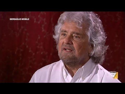 Grillo intervistato da Mentana a Bersaglio Mobile - 21/03 ...