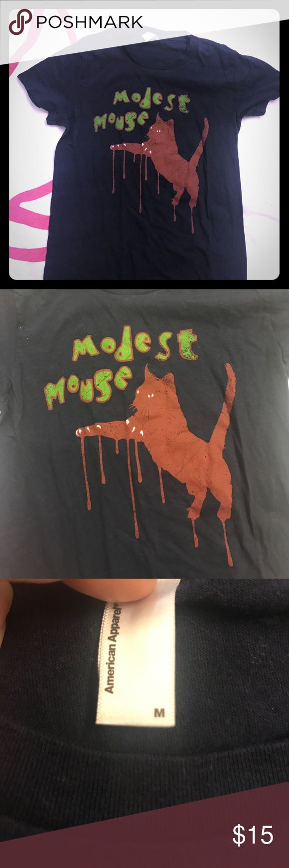 Modest Mouse band Tee Slightly worn, from a tour years ago American Apparel Tops Tees - Short Sleeve