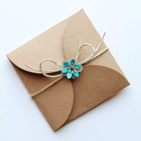 Упаковать открытку своими руками