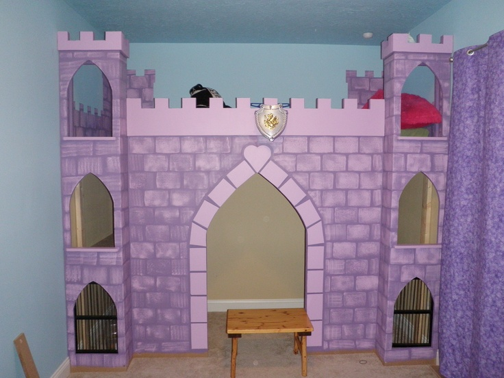 9 best kids castle bed images on pinterest child room for Castle kids room