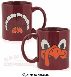 Hokie Face and Tailfeathers Mug.