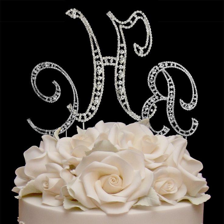 Cake Toppers For Weddings Monogram