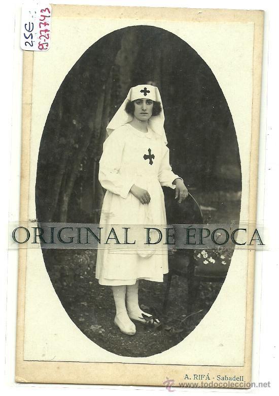 (PS-27743)POSTAL FOTOGRAFICA DE SABADELL-ENFERMERA DE LA CRUZ ROJA