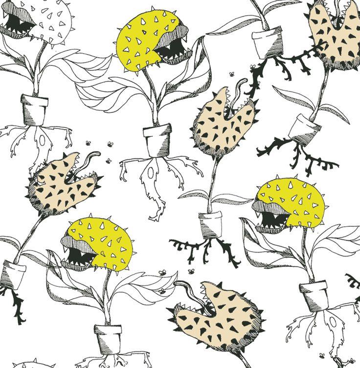 Carnivorous Plant print by Cristina Bartl