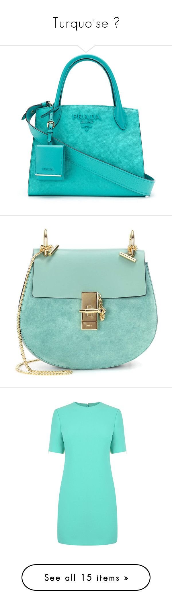 """Turquoise ✨"" by arya14 ❤ liked on Polyvore featuring bags, handbags, shoulder bags, bolsas, green, genuine leather handbags, leather shoulder bag, green shoulder bag, leather handbags and chloe shoulder bag"