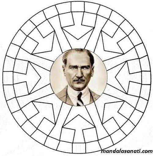 Ataturk Mandala Ile Ilgili Gorsel Sonucu Boyama Sayfalari