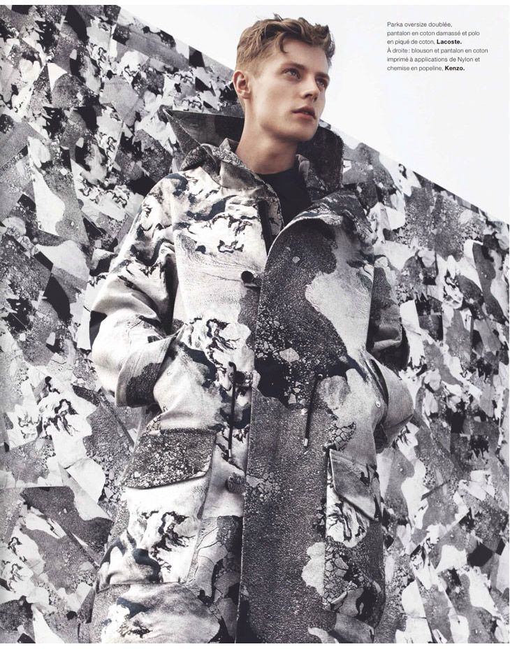Janis Ancens for the Fall/Winter 2013 issue of Numéro Homme | by Jacob Sutton