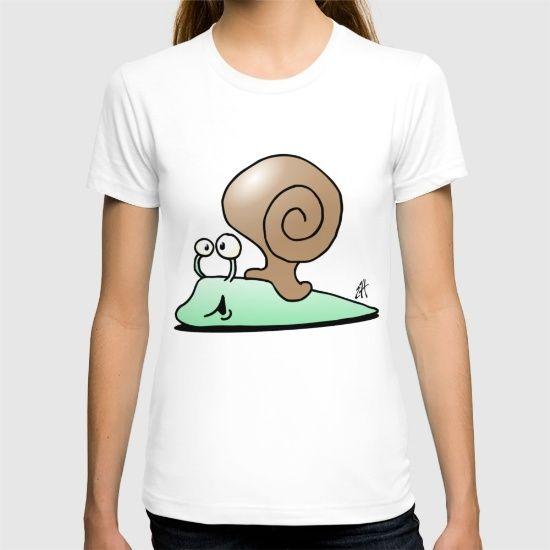 Snail T-shirt. #Society6 #Cardvibes #Tekenaartje