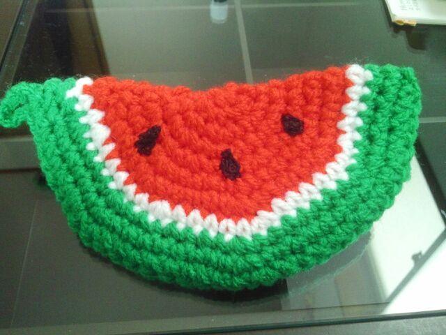 すいかのアクリルたわしの作り方 編み物 編み物・手芸・ソーイング ハンドメイドカテゴリ アトリエ