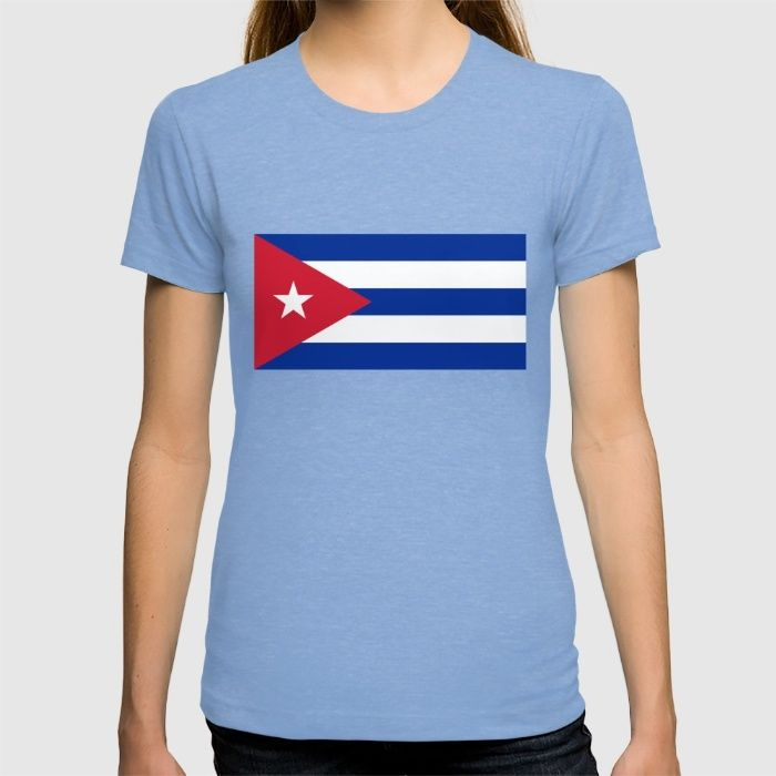 National flag of Cuba - Authentic version T-shirt #Cuba #cubaflag #cuban #flag #cubanflag